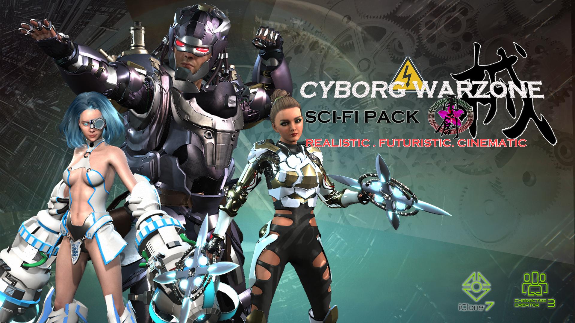 Cyborg War Zone - Super Pack