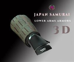 japan-samurai-lower-arms-armors-3d-model-low-poly-obj-fbx-blend-ztl