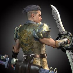 Warrior in Monster Hunter Game Alike