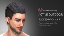 Active Outdoor Hairstyles - Slicked Back Hair - Poster01