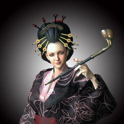 Japanese Geisha Entertainer