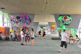 Projeto PilastrART muda visual cinzento de viaduto de Campinas