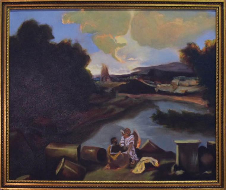St. Stewart & The Angel in Landscape