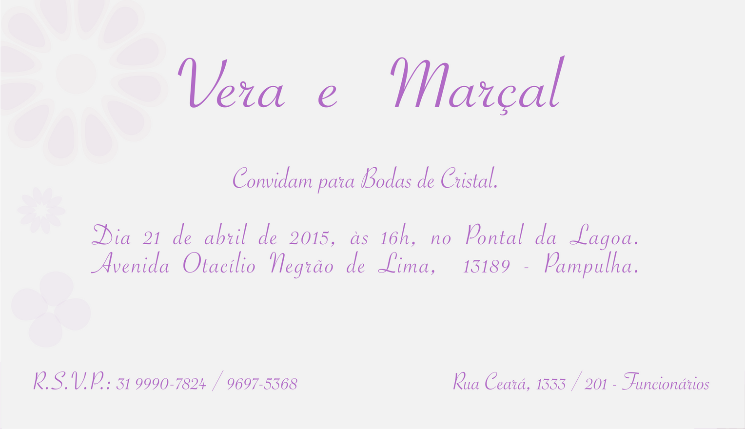 Convite do evento