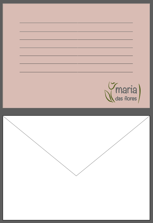 cartao envelope
