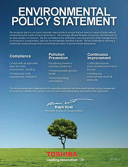 Toshiba Environmental Policy