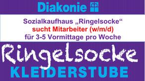 Sozialkaufhaus Ringelsocke sucht Mitarbeiter (m/w/d)
