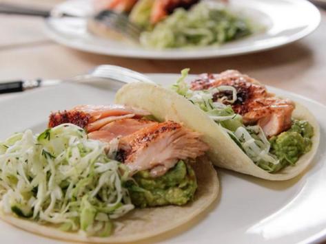 Ina's Salmon Tacos