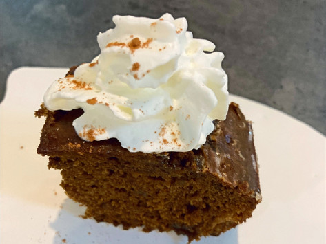 Spicy Double Ginger Cake with Lemon Glaze