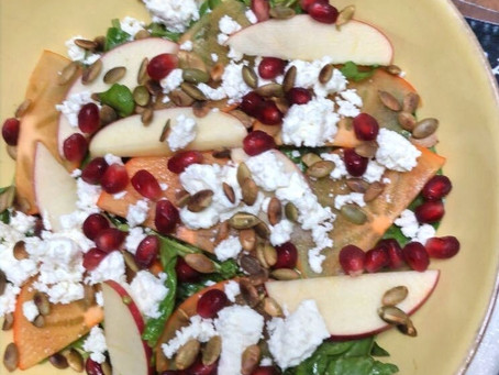 Spinach & Persimmon Salad