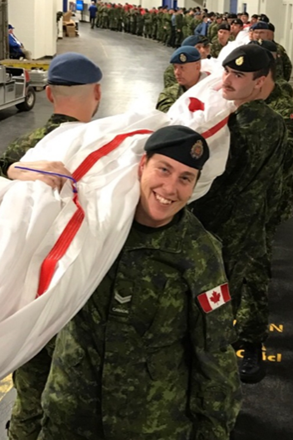 Then Corporal Ireland was honoured to be part of the opening ceremonies on Military Appreciation Night during the Blue Jays American East League championship series in 2016.