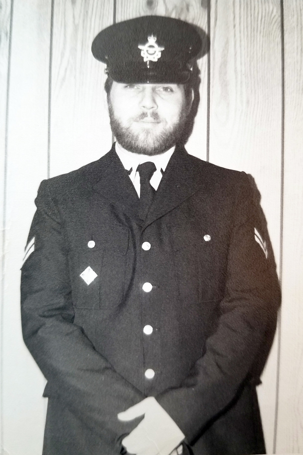 Corporal John O'Hara in his Canadian Armed Forces dress uniform during the '70s.