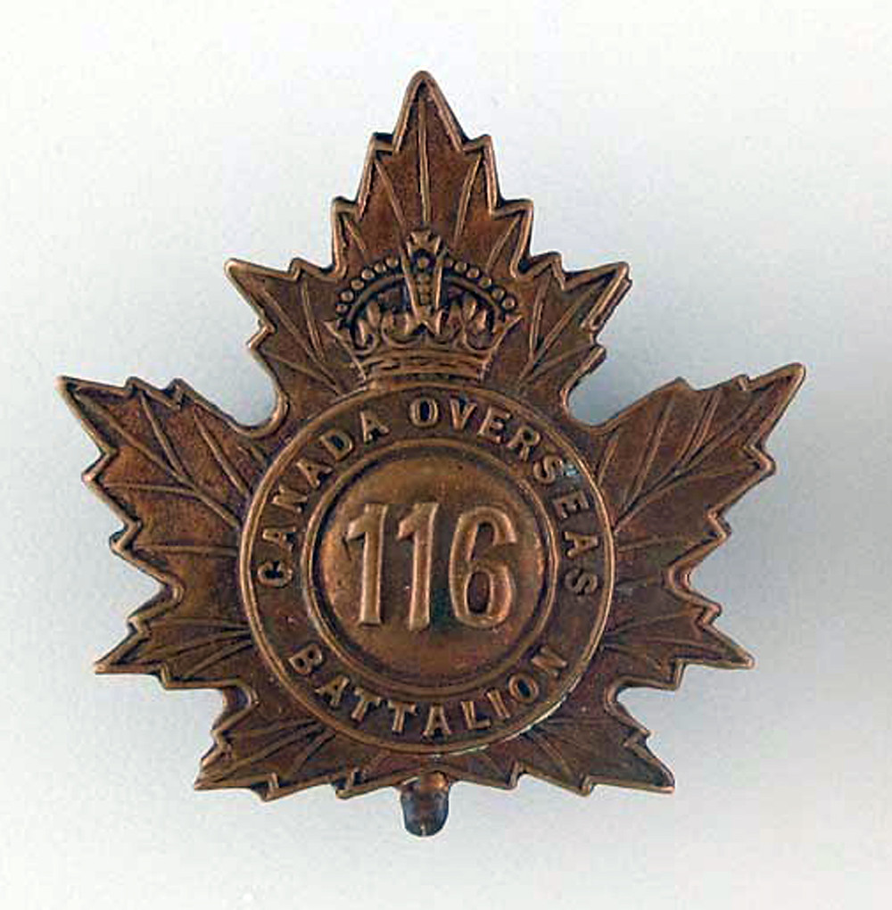 L/Cpl Newlove served at the front with the 116th Canadian Infantry Battalion, CEF.