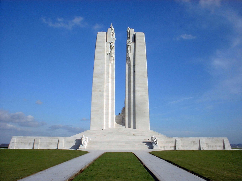 The Canadian National Vimy Memorial (Source: Veterans Affairs Canada)