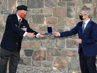 LOCAL VETERAN AWARDED THE SOVEREIGN'S MEDAL FOR VOLUNTEERS