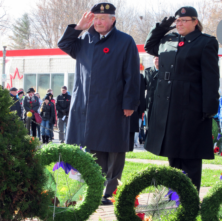 Veteran member Bob Rice salutes