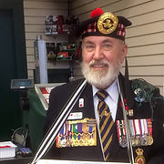 Comrade Tom Thompson volunteers for the Poppy Campaign leading to Remembrance Day