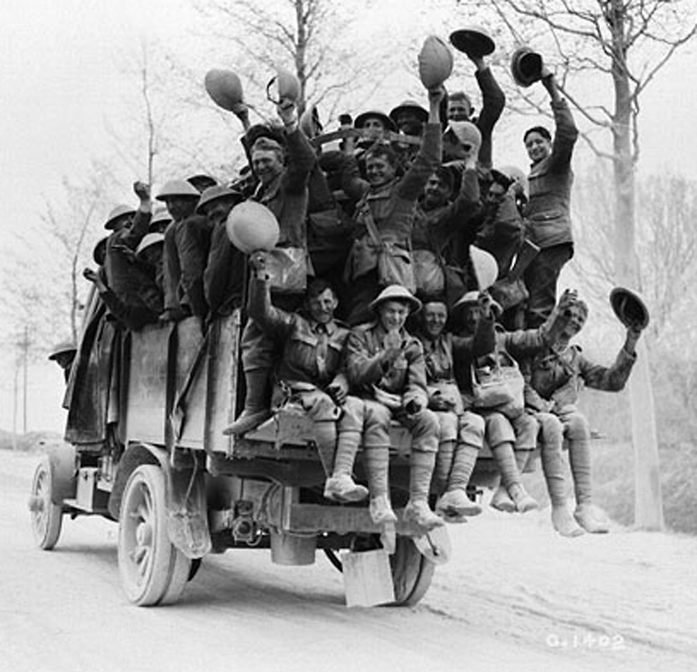 Canadian soldiers returned victorious from Vimy Ridge (Canada. Dept. of National Defence / Library and Archives Canada)