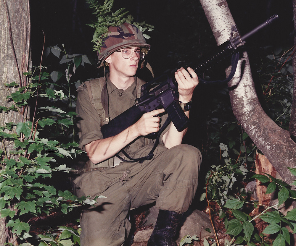 Private Dave Robitaille during field training after he joined the Regular Forces