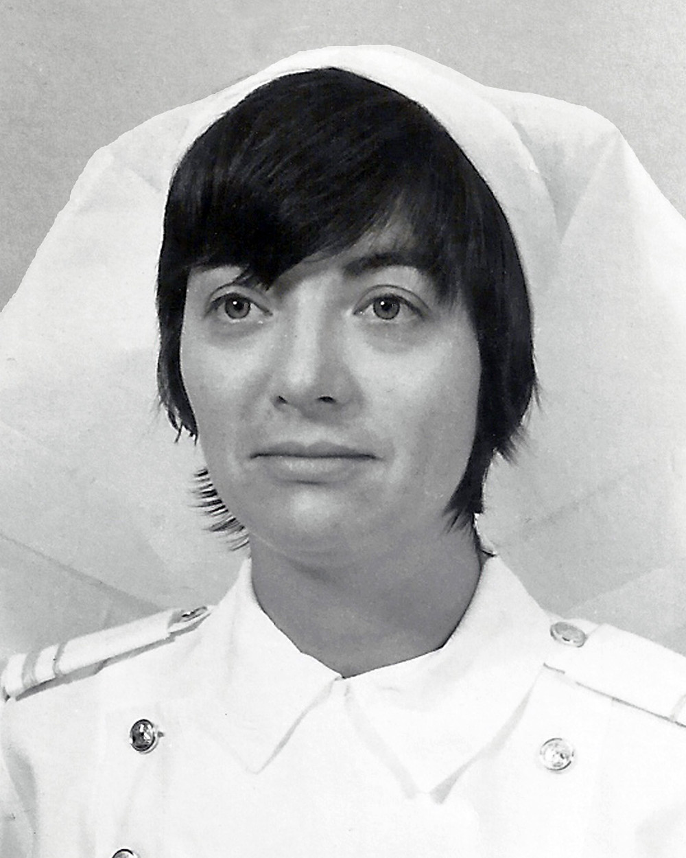 Comrade Sonia Kamel in her nurse uniform during her Air Force days.