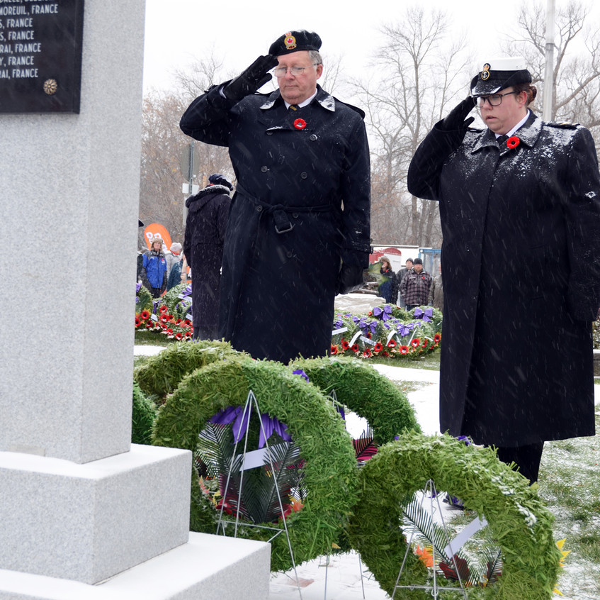 Remembrance Day in Coldwater