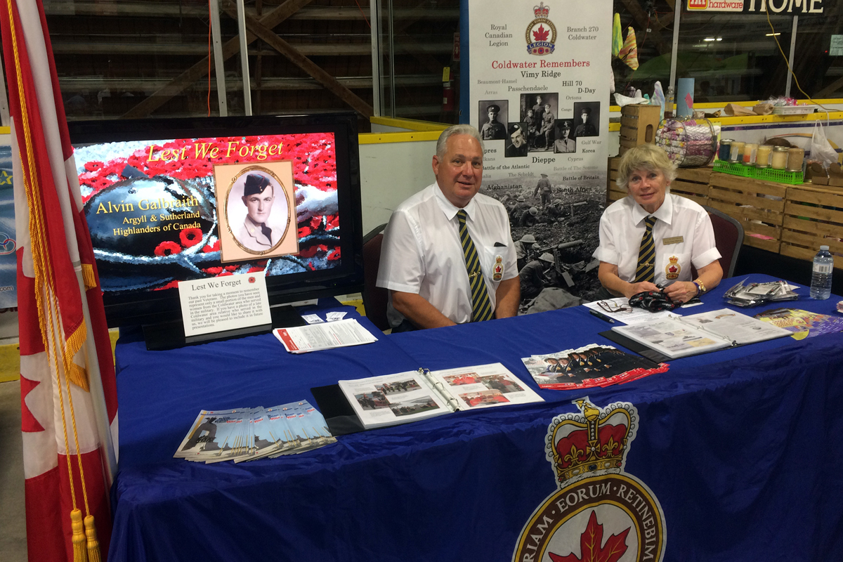 Coldwater Legion at the Fall Fair