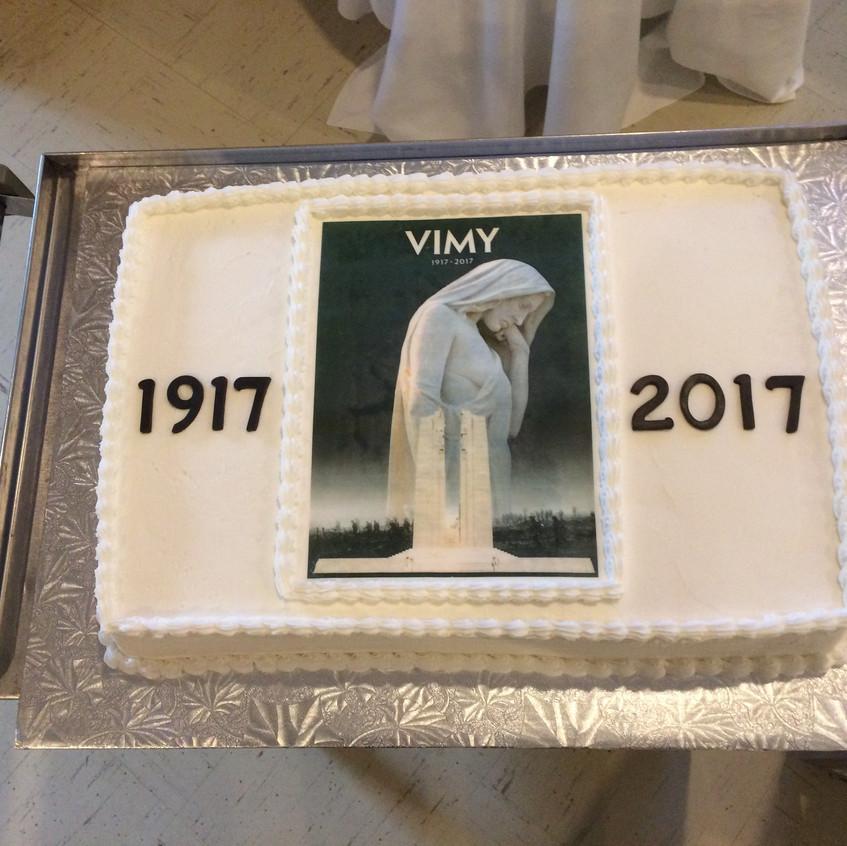 Vimy Day cake