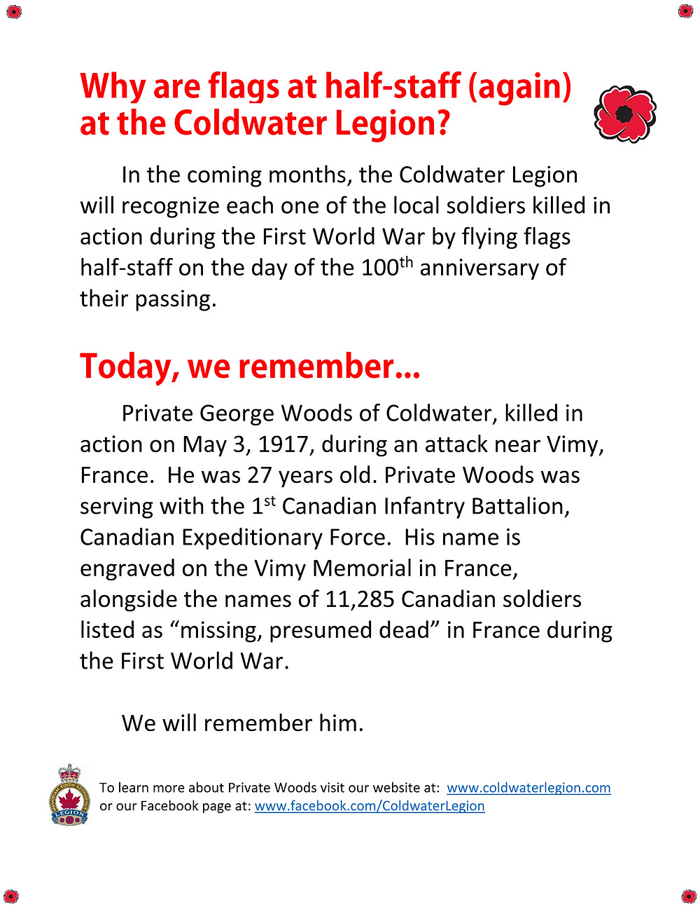 Coldwater remembers: Private George Woods