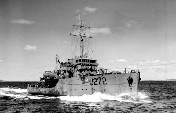 Canadian-built HMCS Esquimalt was the last RCN ship to be sunk in the Second World War.