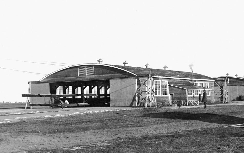 One of the 15 original RFC Canada hangars in Borden.