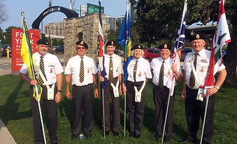 Coldwater Legion members take part in Warriors Day parade.