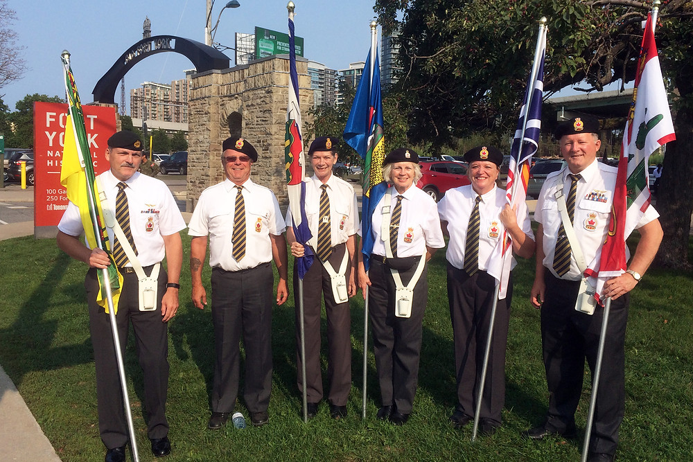 Members of Branch 270 Coldwater travelled to the CNE in Toronto to take part in the annual Warriors Day Parade