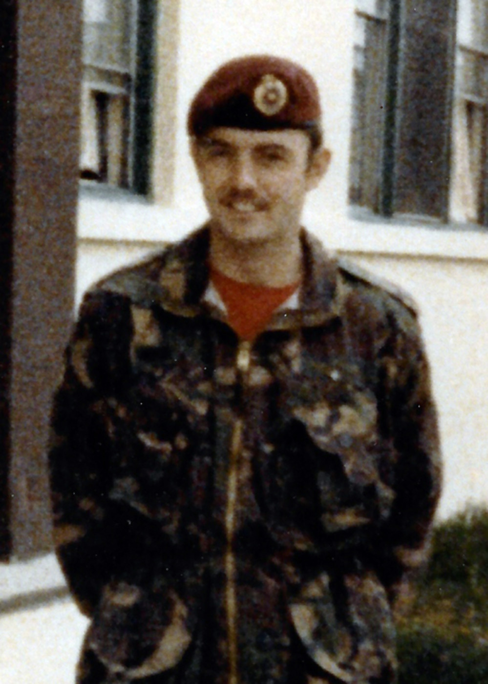 A 27 year-old Corporal Randy Rice serving with 2 Troop Combat Engineer in Petawawa in 1980.