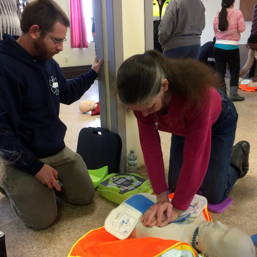 CPR Day - Cathy & PAD