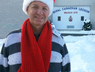 LADIES AUXILIARY'S SPECIAL SCARVES FOR VETERANS