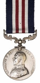 """Private William Caswell of Coldwater was awarded the Military Medal (M.M.) """"For conspicuous courage and devotion to duty during the attack and capture of Vimy Ridge""""."""