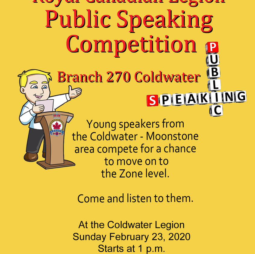 Public Speaking Competition 2020