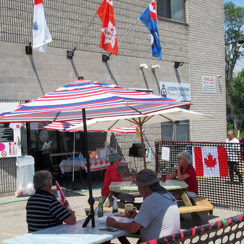 Canada Day 2020 on the Patio