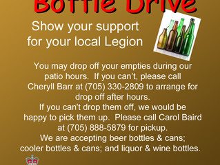 THE BOTTLE DRIVE IS ON!