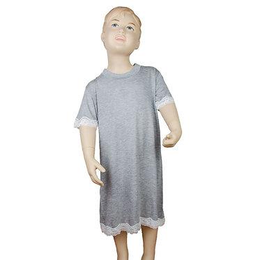 Camicia da notte da bambina in modal di qualità italiana - Made in Italy