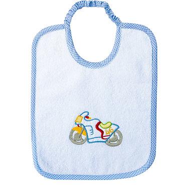 Bavaglio in puro cotone italiano per bambini personalizzato e ricamato - bavaglio anallergico - Made in Italy