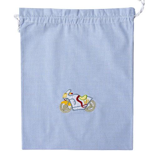 sacchetto per asilo da bambino in puro cotone anallergico italiano made in italy