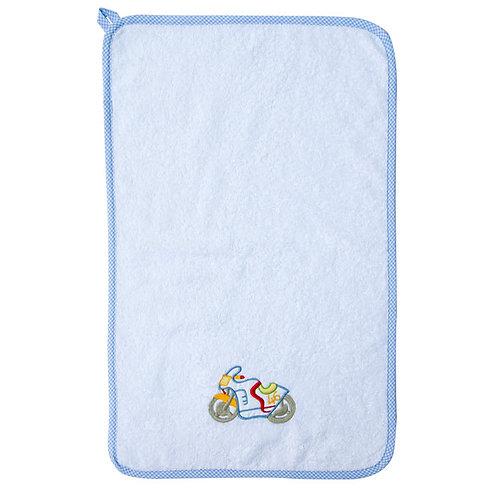 asciugamano da asilo per bambino con ricamo fantasia e personalizzato con il nome made in italy