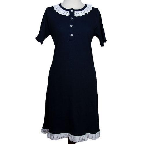 Camicia da notte in costina di puro cotone - Ketty