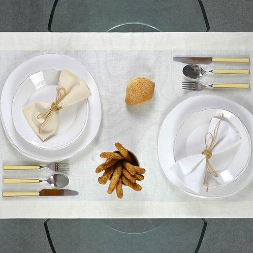 Runner - tovaglia - in fiandra di puro lino, elegante e comodo per la tua tavola