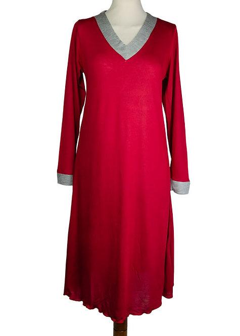Camicia da notte manica lunga in puro micromodal - Chiara