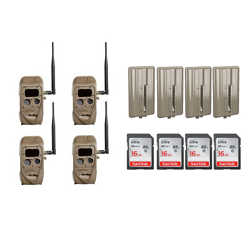 CUDDELINK J-SERIES BLACK FLASH - 4 PACK BUNDLE