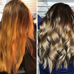 Balayage and Cool Toner