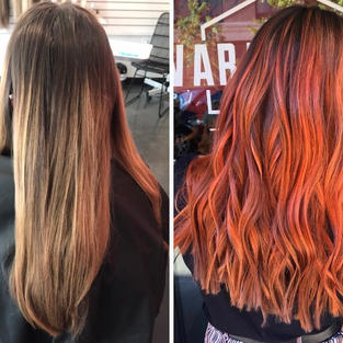 Balayage and Orange Color