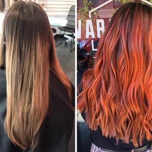 Balayage and Orange Color
